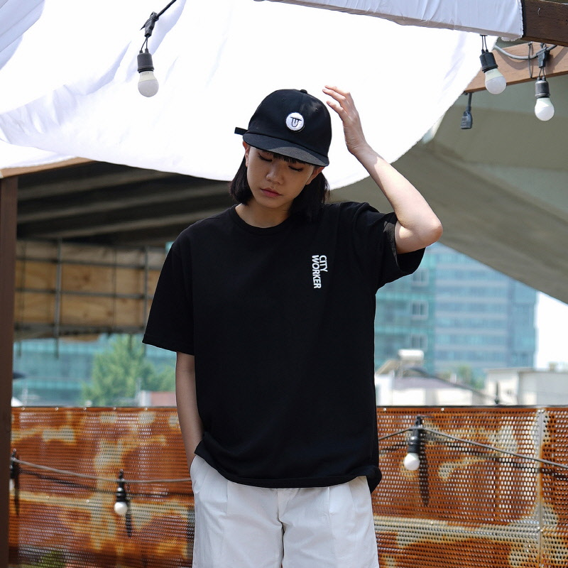 City Worker Tee - BLACK