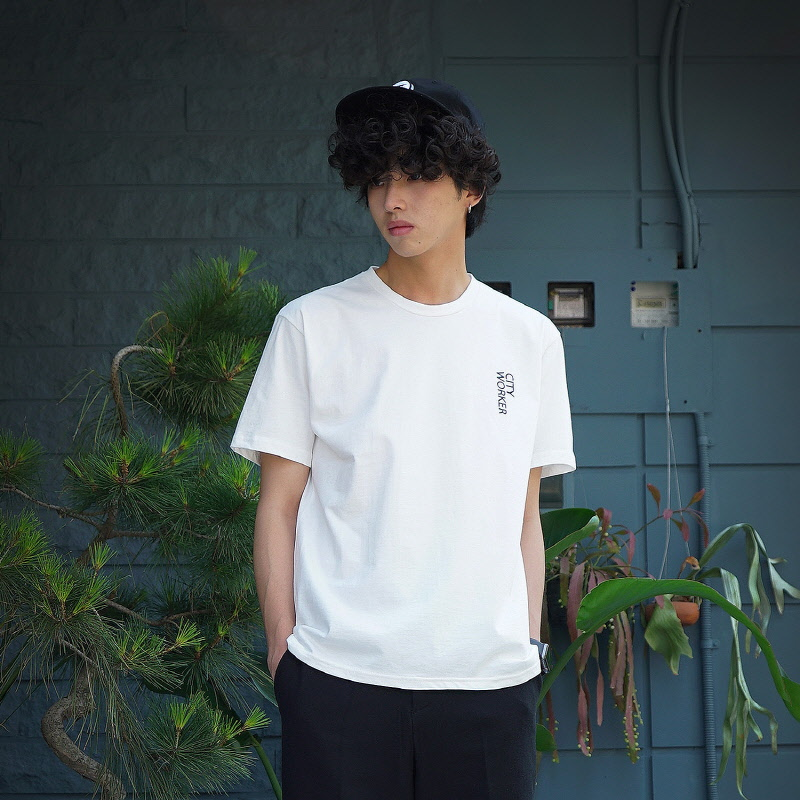 City Worker Tee - WHITE