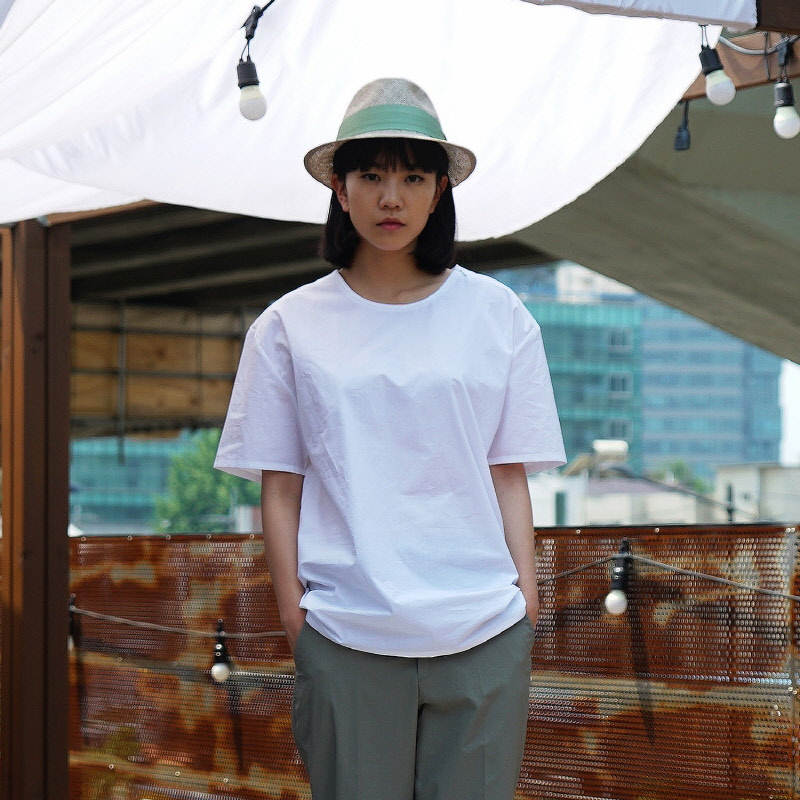 Console Woven Tee - WHITE