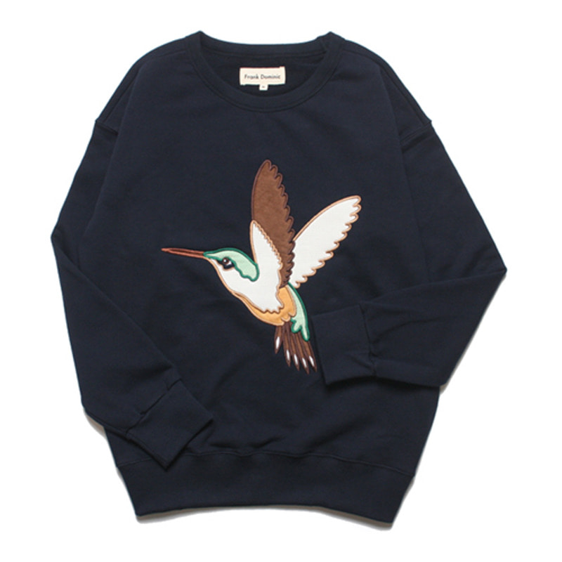 HUMMING BIRD OVERSIZE SWEAT(NAVY)