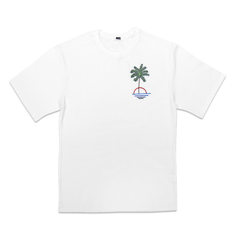 T SHIRT - WHITE PALM TREE