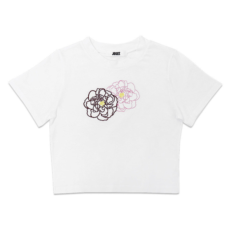 T SHIRT - WHITE CAMELLIA FLOWER