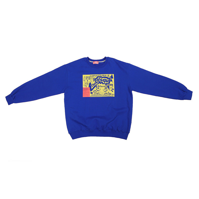 The dsqu live poster sweatshirts / Blue