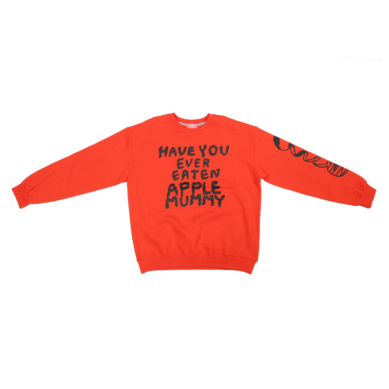 Apple mummy print sweatshirts / Orange