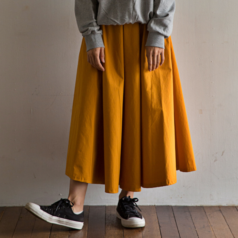 Long skirt(mustard)_Scene with you