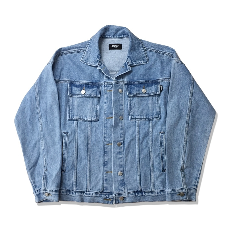 OVERSIZED DENIM JACKET -LIGHT BLUE