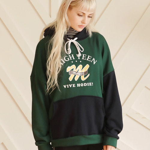 HIGHTEEN COLOR HOODIE (green) [9/29입고]