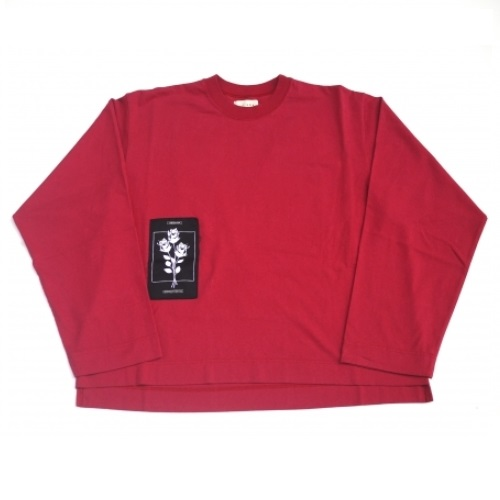 JieDa PATCH LONG SLEEVE T-SHIRT (RED)