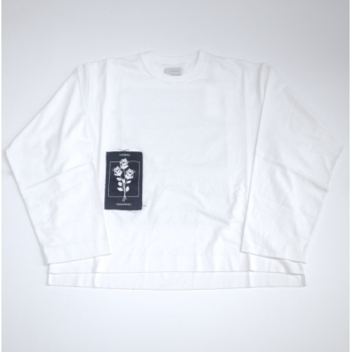 JieDa PATCH LONG SLEEVE T-SHIRT (WHT)