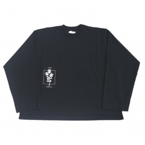 JieDa PATCH LONG SLEEVE T-SHIRT (BLK)