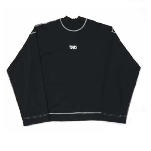 JieDa MOC NECK LONG SLEEVE T-SHIRT (BLK)