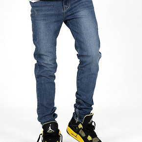 OVDS WASHED SLIM ZIP JEANS
