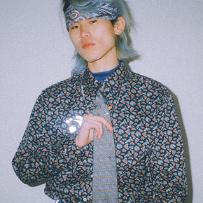 Reflective paisley shirt blue