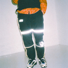 Reflective warm-up pants black