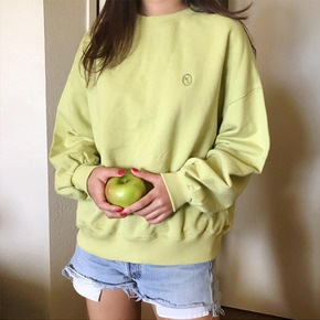 SIGNATURE LABEL SWEATSHIRTS - LIME