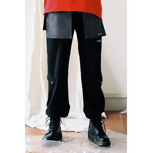 POCKET SWEAT PANTS - BLACK