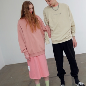 (UNISEX) SUMMER SWEATSHIRTS - LIGHT BEIGE
