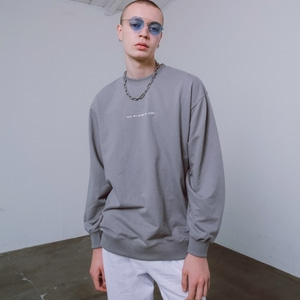 (UNISEX) SUMMER SWEATSHIRTS - GREY