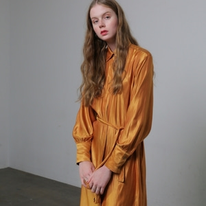 SILKY ROBE DRESS - ORANGE