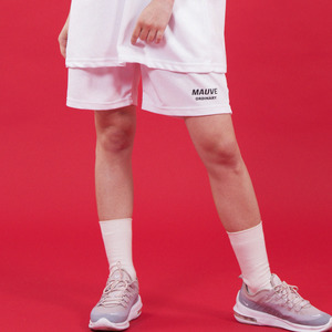 BASIC LOGO HALF PANTS (white)