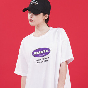 BASIC LOGO HALF T SHIRTS (white)