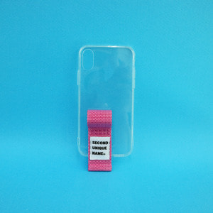 SUN CASE FINGER CLEAR PINK (JELLY CASE)