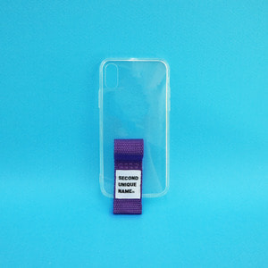 SUN CASE FINGER CLEAR PURPLE (JELLY CASE)
