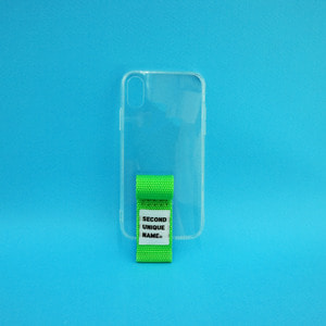 SUN CASE FINGER CLEAR YELLOW GREEN (JELLY CASE)