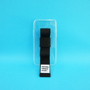 SUN CASE RIBBON CLEAR BLACK (JELLY CASE)