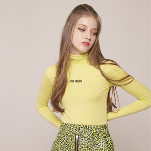 0 5 CLUT STUDIO TURTLENECK TOP - LEMON