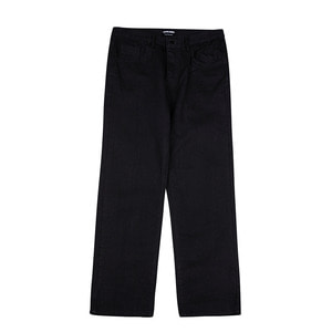 BLACK WIDE DENIM PANTS