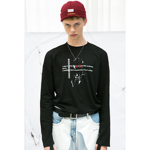 STITCH LONG SLEEVE - BLACK
