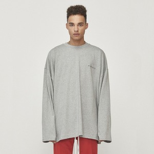 Oversized Long Sleeve T-shirt Grey