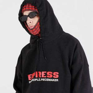 EXPRESS HOODED SWEATSHIRTS (BLACK)