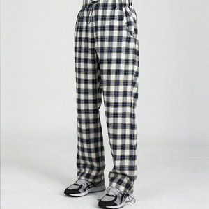CHECK SUIT RELAX PANTS (BLUE)