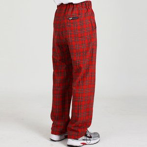 CHECK SUIT RELAX PANTS (RED)