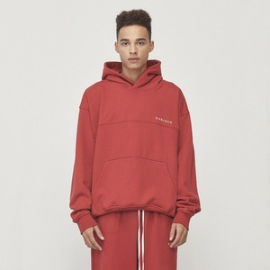 Oversized Logo Hoodie Red