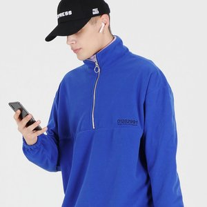 OG FLEECE HALF ZIP UP (BLUE)