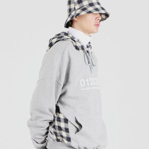 OG CHECK HOODED SHIRTS (GREY)