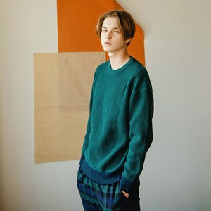 WOOL R-NECK KNIT (GREEN)