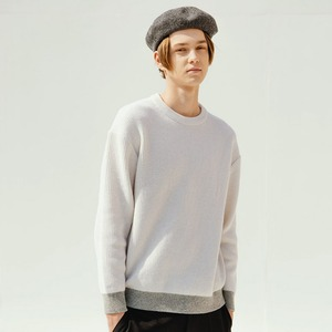 WOOL R-NECK KNIT (IVORY)