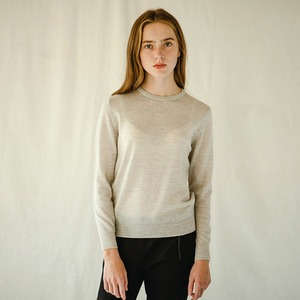 MERINO WOOL ROUND-NECK (L/GREY)