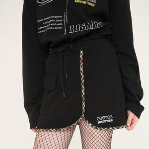 CHECK SKIRT - BLACK