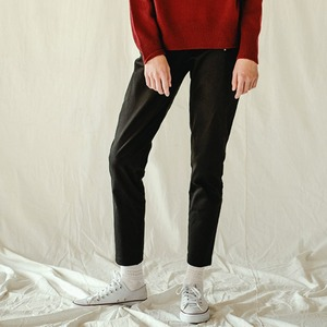 ZIPPER LEGGINGS PANTS (BLACK)