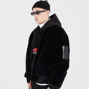 FUR MA-1 FLIGHT JACKET (BLACK)