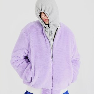FUR MA-1 FLIGHT JACKET (PURPLE)