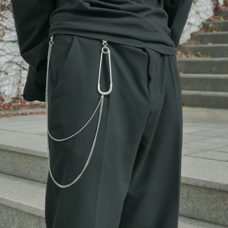 SAFETYPIN PANT CHAIN - SILVER