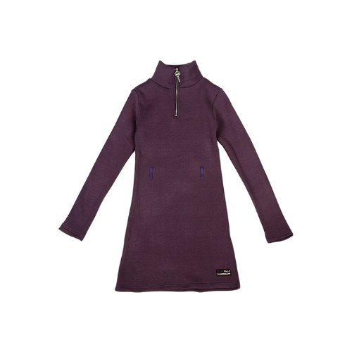 Key Zipper Knit One-piece [Violet]