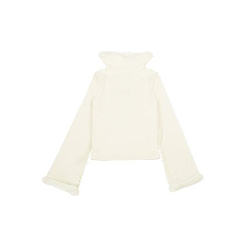 Bell Sleeve Wide Turtle Neck T [White]