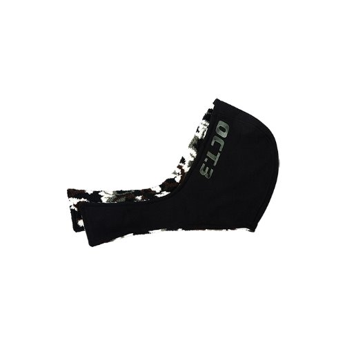 Camouflage Fur Mix Hood Muffler [Black]